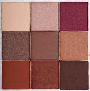 CLAY RED eyeshadow palette n.1  paleta cieni do powiek